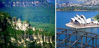 Сидней и Голубые Горы на вертолёте